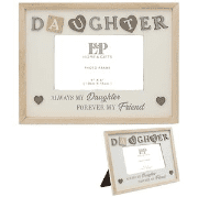 Sentiments daughter picture frame with hearts